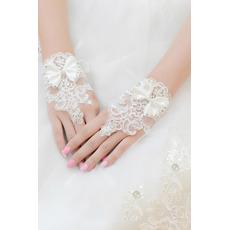 Svadobné rukavice Krátke bez ramienok dekorácie Čipka Fabric Mitten