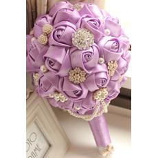 Vysokokvalitné vlastné fialové tému svadobné nevesty kytice