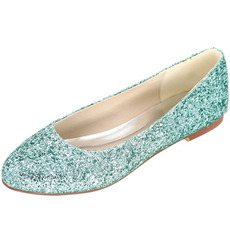 Flitre ploché dámske topánky strieborné svadobné topánky družičky topánky tehotné ženy svadobné topánky
