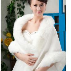 Zimné svadobné šál bez rukávov