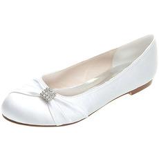 Ploché topánky saténové materské svadobné topánky svadobné plus ploché topánky