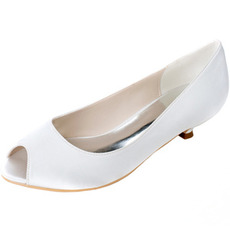 Svadobné ryby ústa topánky nízke topánky na podpätku tehotné ženy svadobné topánky
