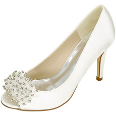 Svadobné dámske topánky plytké ústa rybie hlavy vysoké podpätky drahokamu jednotlivé topánky družičky banketové šaty sandále