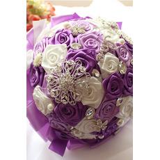 Nevesta stuha ružová perla farebná stuha drží kvety
