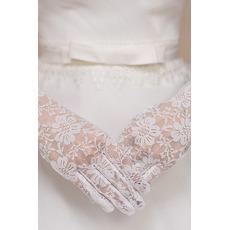 Svadobné rukavice krátke biele večné multifunkčné čipky