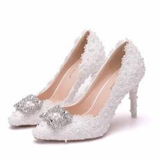 Drahokamu jediné topánky svadobné topánky čipky party topánky