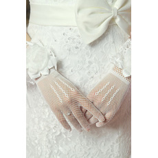 Svadobné rukavice Kvety Podzim Čierne multifunkčné Elegantné