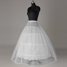 Svadobné Petticoat Silné Net Svadobné šaty Krajky orezanie Štandardné