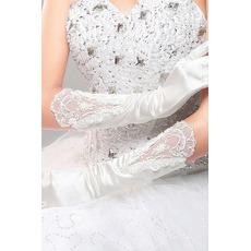 Svadobné rukavice Červený dlhý hodváb slávnostný Celý prst Studený