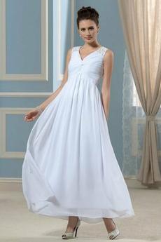 Elegantné Prírodné pása V krku Svadobné Chýbať Šifón Večerné šaty