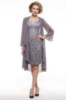 Elegantné Široké popruhy Pošva Kolená Prírodné pása Matné šaty