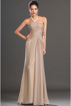 Bez ramienok Bez rukávov Elegantné Dĺžka podlahy Večerné šaty