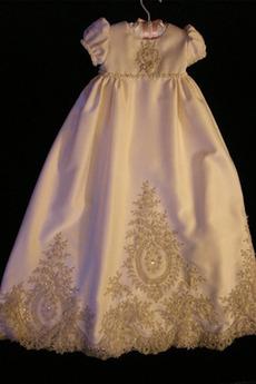 Krátke rukávy Princezná Dovolenka Formálne S diakritikou luk Otroške obleko