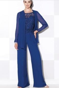 Vysoká zahrnuté Oblek Tričko Šifón Formálne Matka šaty obleky