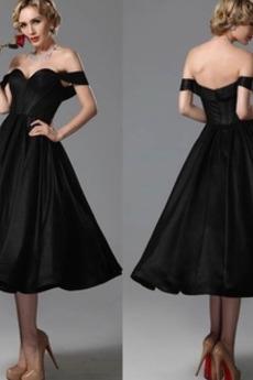 Satén A Riadok Krátke rukávy Chýbať Neformálne Limitovaný rukávy Večerné šaty