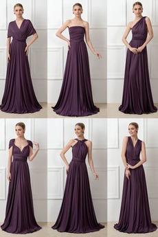 Šifón Svadobné Bez rukávov Elegantný V krku Letné Družičky šaty