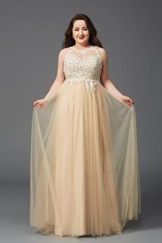 Drahokamy živôtik A Riadok Tyl Elegantné Šperk Zips hore Večerné šaty