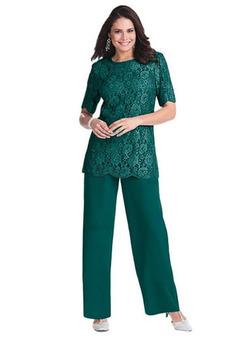 Čipka Oblek Vysoká zahrnuté Klasický Šifón Matka šaty obleky