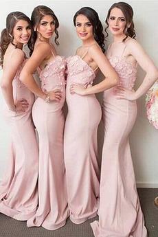 Námornej službe Tenké Svadobné Špagety popruhy Družičky šaty