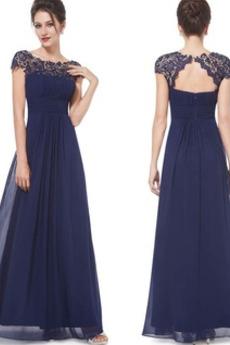 Elegantné Zips hore A Riadok Šifón Limitovaný rukávy Večerné šaty