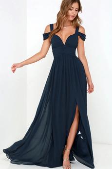 Čalúnené Letné Jednoduché Limitovaný rukávy Chýbať Večerné šaty