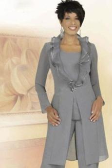 Oblek Plusová velkosť Vysoká zahrnuté Dvojdielne Matka šaty obleky