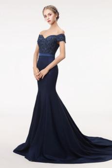 Morská panna Elegantné Zips nahor Drobunký Svadobné Stužková Šaty