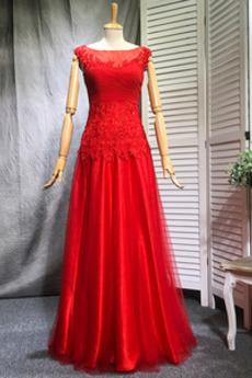 Chýbať Šou Elegantný Čipka Prírodné pása Širokým hrdlom Družičky šaty
