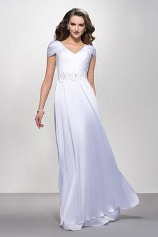 Elegantné Zamiesť vlak Pružina Limitovaný rukávy Večerné šaty
