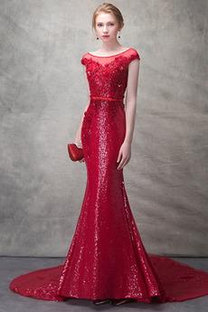 Zašnurovať topánky Elegantný Morská panna Limitovaný rukávy Večerné šaty
