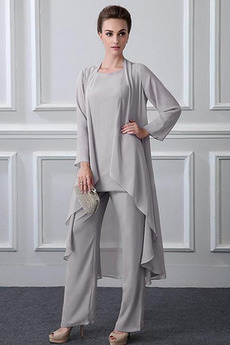 Zavesený Dlhými rukávmi Členok dĺžka Oblek na nohavice Matka šaty obleky