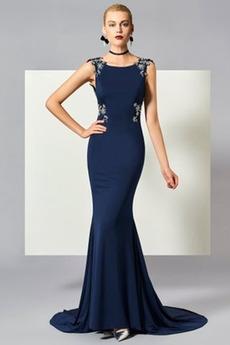 Morská panna Formálne Prírodné pása Zavesený Zamiesť vlak Večerné šaty