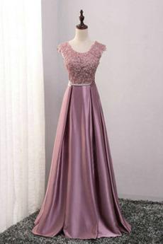 Bez rukávov Romantické Čipkou Overlay A Riadok Družičky šaty