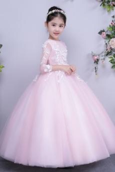 Tyl Prírodné pása Členok dĺžka Formálne Dovolenka Kvetinové šaty