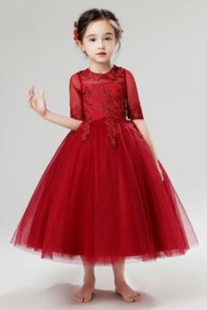 A Riadok Chýbať Formálne Nášivky Krátke rukávy Kvetinové šaty