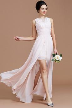 A Riadok Stehna vysoké štrbiny Prírodné pása Jednoduché Družičky šaty