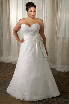 Svetlo šedá Stredná späť Lúk Jeden kvet popruh Svadobné šaty