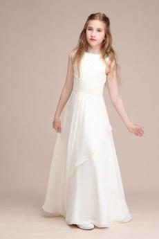 Členok dĺžka Elegantné Lopta Bez rukávov Prírodné pása Kvetinové šaty