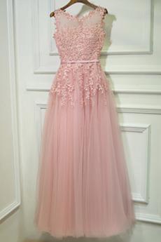 Svadobné Prírodné pása Dĺžka podlahy Čipka Letné Družičky šaty