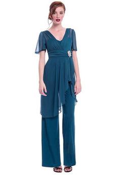Prírodné pása Klasický Šifón V krku Skladaný živôtik Matka šaty obleky