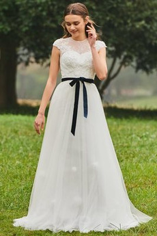 S hlbokým výstrihom Vonkajšie Prírodné pása Šerpa Svadobné šaty