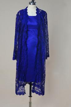 Elegantné Kolená Oblek Vysoká zahrnuté Ilúzia rukávmi Matné šaty
