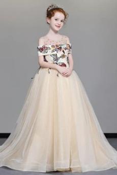 Viacvrstvový Vyšívanie Vinobranie Zips hore Limitovaný rukávy Kvetinové šaty