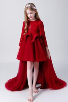 Zavesený Jeseň Elegantné Asymetrické Chýbať Tričko Kvetinové šaty