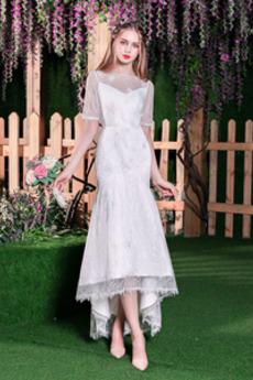 Čipka Elegantné Obrátený trojuholník Čipkou Overlay Svadobné šaty