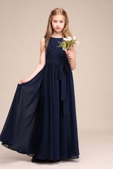 Elegantné Bez rukávov Zips hore Zavesený Šperk Kvetinové šaty