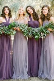 Pružina Tyl Chýbať Prírodné pása A linka Jednoduché Družičky šaty