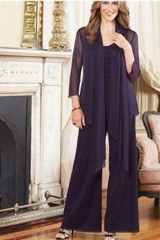 Šifón S nohavice Očarujúce Členok dĺžka Vysoká krytia Matka šaty obleky