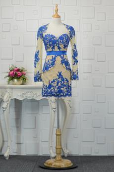 Elegantné Zavesený Tenké Stredná späť Pošva Krátke Večerné šaty