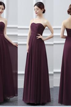 Bez ramienok Skladaný A-Riadok Prírodné pása Šifón Družičky šaty